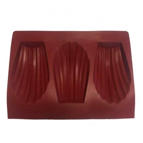 Professional Silicone Mold Big Sharing Madeleine Cake Entremet Mold - 200 x 120 x 40 mm - 420 ml - 3 Cavity