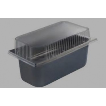 Disposable Transparent Lid for Ice Cream Tray Basin - 360x165x65mm - Pack of 20