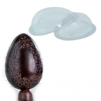 Polycarbonate Glossy 1/2 shell egg mold - 1 Cavity - 450x320mm
