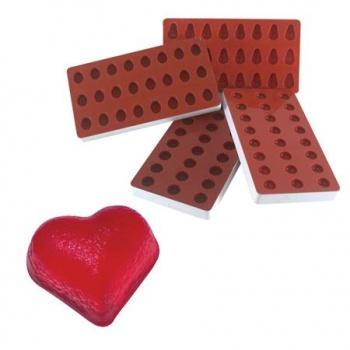 Martellato Jellies Heart Jelly Mold - 34x30x18mm - makes 24 pcs
