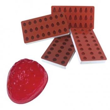 Martellato Jellies Strawberry Jelly Mold - 36x30x20mm - makes 24 pcs