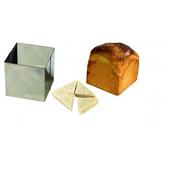 SQUARE STAINLESS STEEL SURPRISE BREAD 12 X 12