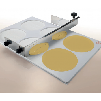 Perforated Template for Making Chocolate Tuiles and Discs - 135x8mm - Makes 8 discs