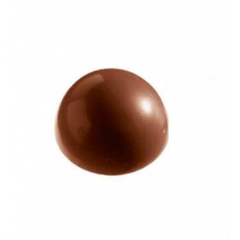Polycarbonate Chocolate Smooth Hemisphere Mold Ø 48 mm -  4 x 5 cavity - 380 x 210 mm - Full size mold