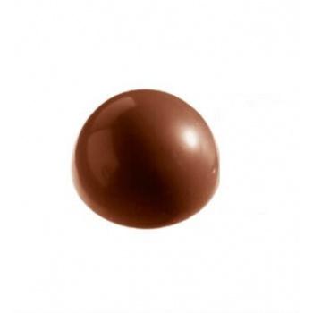 Polycarbonate Chocolate Smooth Hemisphere Mold Ø122 mm -  3 cavity - 365 x 195 mm - Full Size Mold