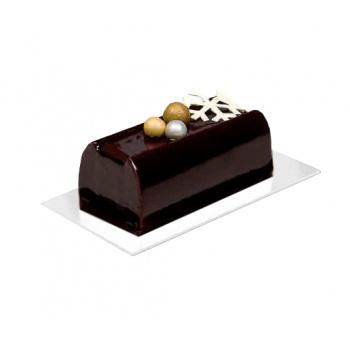 Gold/White Rectangular Cake Board - 19.5cm x 10.5cm - 50pcs