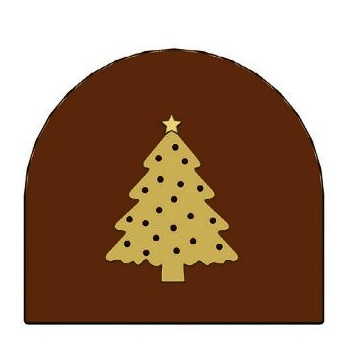 Yule Log Decoration - Wide Christmas Tree - 80 x 68 x 6 mm 21g - set of 10 plates 6 impressions per plate