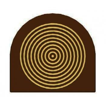 Yule Log Decoration - Spiral Circle - 78 x 85 x 5 mm 28g - set of 10 plates 6 impressions per plate