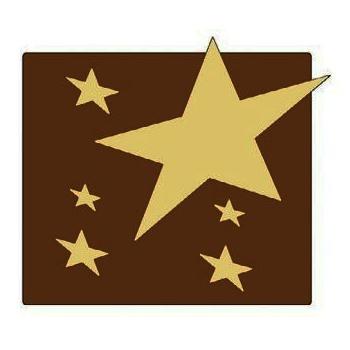 Yule Log Decoration - Square Stars - 84 x 83 x 5 mm 29g - set of 10 plates 6 impressions per plate
