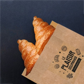 White Greaseproof Croissants Viennoiseries Bread Bags - 250 x 140 mm - Pack of 500