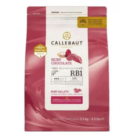 Barry Callebaut Ruby Chocolate - 2 Lb Bags -