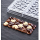 Polycarbonate Valentine's Day Heart Chocolate Bar Mold EROS by Vincent Vallée - 154x77x11mm - 100g - 3 indents