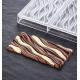 Polycarbonate Chocolate Bar Mold Fluid by Vincent Vallée - 154x77x11 - 100g - 3 indents