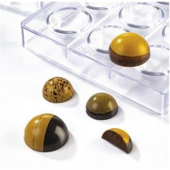 Polycarbonate Chocolate Semi Hemisphere - 35x17.5mm