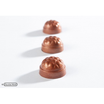 Polycarbonate Chesterfield Chocolate Mold - 30x30x18mm - 10.5gr - 3 x 7 cavity