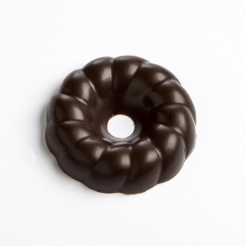 Polycarbonate  Wreath Chocolate Mold - 40 x 40 x 9mm - 9gr - 3x6 cavity