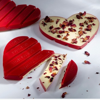Polycarbonate Fire Lava Chocolate Tablet Bar by Seb Pettersson- 150x56.5x10mm - 83gr - 1 x 4 cavity