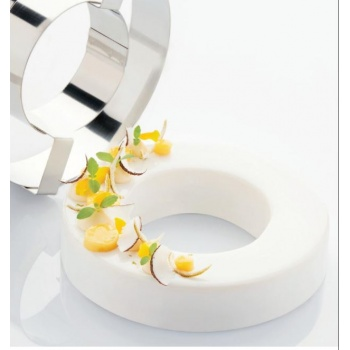Stainless Steel Cake Ring - Donut Shape 18 x 4cm - 700ml - 40mm H