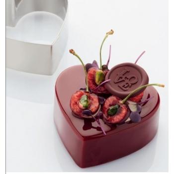 Stainless Steel Cake Ring - Heart Shape 10 x 5cm - 315ml - 50mm H