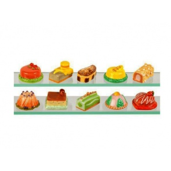 Assorted Feves Cakes Charms - Pack of 100