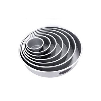 "Round cake pan solid bottom 16""x2"""