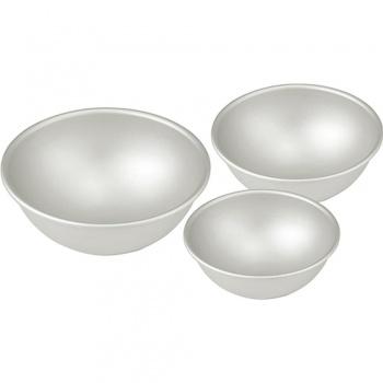 """Aluminum Hemisphere Pan, 3 1/2''"""" diameter x 1 3/4"""" deep"""