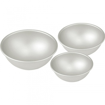 """Aluminum Hemisphere Pan, 6 1/4"""" diameter x 3 1/8"""" deep"""