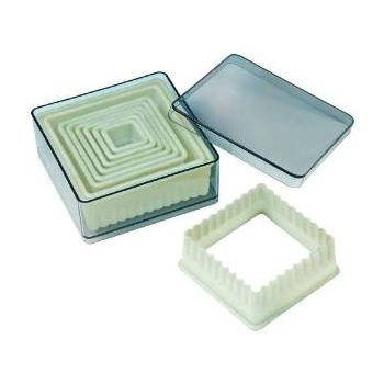 Nylon & Fiberglass Cutter Set, Boxed, Square, 9 pc set