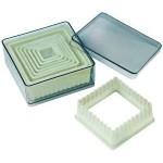 Nylon & Fiberglass Cutter Set, Boxed, Square, 9 pc set