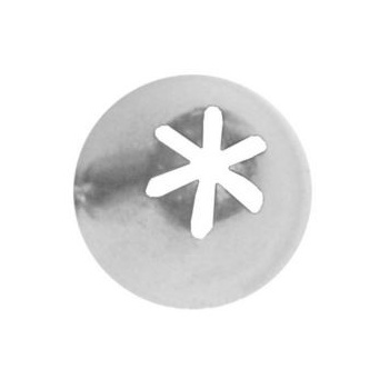 Ateco 852 - Closed Star Pastry Tip .25'' Opening Diameter- Stainless Steel