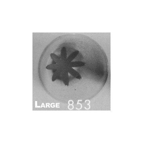 Ateco 853 - Closed Star Pastry Tip .31'' Opening Diameter- Stainless Steel