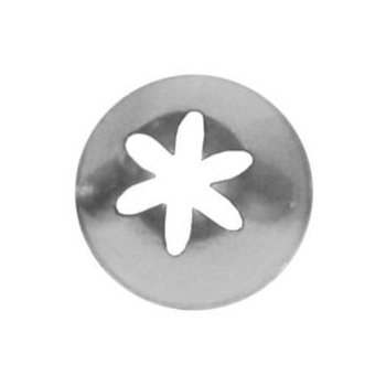 Ateco 855 - Closed Star Pastry Tip .44'' Opening Diameter- Stainless Steel