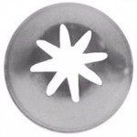Ateco 856 - Closed Star Pastry Tip 1/2'' Opening Diameter- Stainless Steel