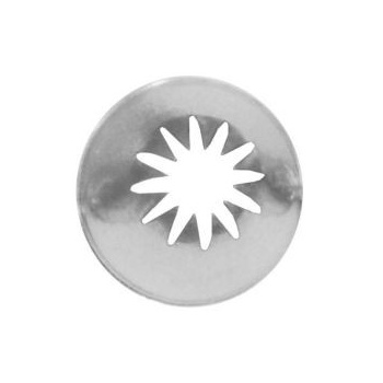 Ateco 857 - Closed Star Pastry Tip .56'' Opening Diameter- Stainless Steel