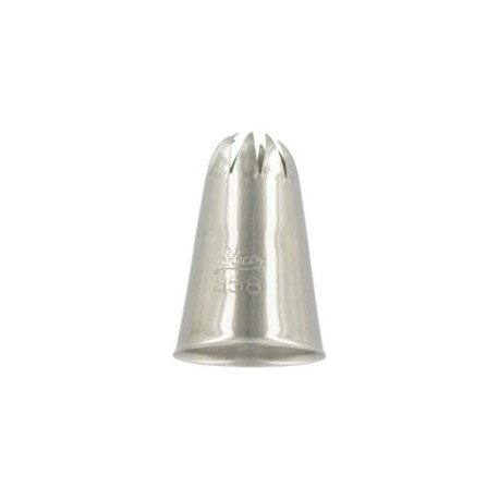 Ateco 858 - Closed Star Pastry Tip .63'' Opening Diameter- Stainless Steel