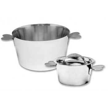 Matfer Bourgeat Charlotte Molds Stainless Steel with Lid 2 3/4""
