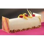 """Matfer Bourgeat PVC Thermoformed Log Cake Mold 22 1/2"""" - Semi Circular Shape - Box of 10"""