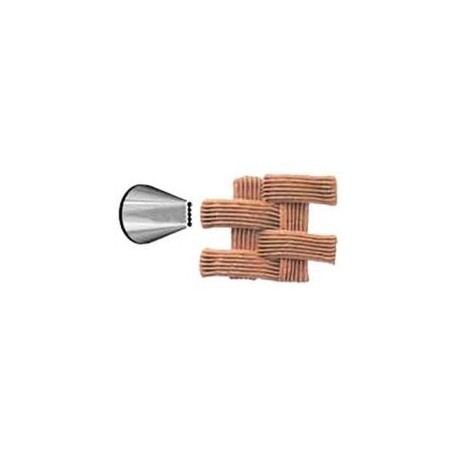 Ateco 47 - Ribbon Pastry Tip - Stainless Steel
