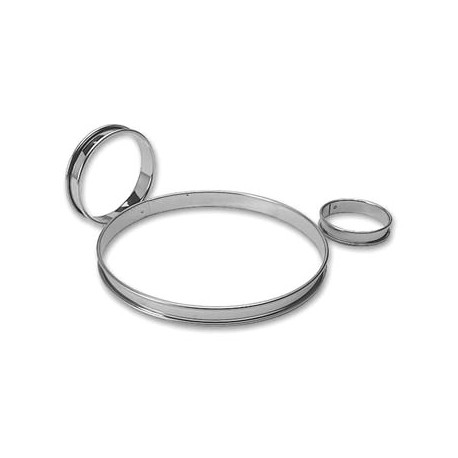 "Stainless Steel Tart Ring 9 1/2"""