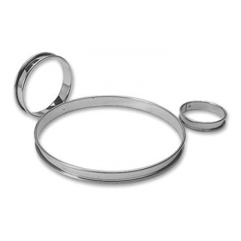 "Stainless Steel Tart Ring 10 1/4"""