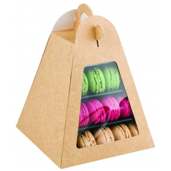 Box for Macarons Mini Pyramid Display