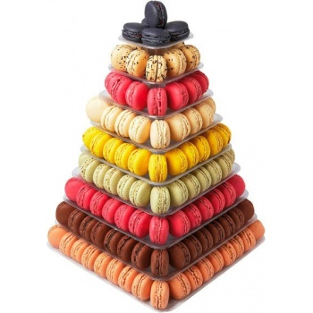 Macarons Pyramid Display - Holds 210 Macarons - Clear