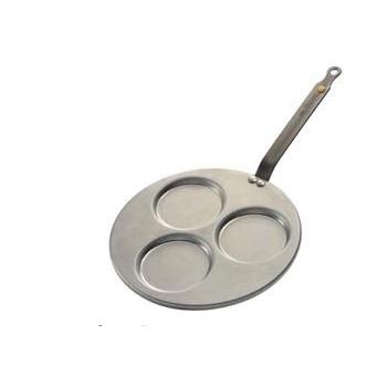 De Buyer Round Triblinis Iron Frypan Mineral B Element Ø 10 5/8'' - 3 Blinis Ø 4''