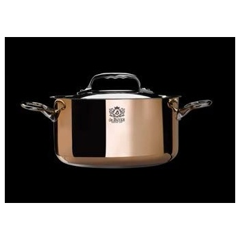 De Buyer Stewpan Copper Stainless Steel  PRIMA MATERA with lid - ø7 7/8''- 3.5qt