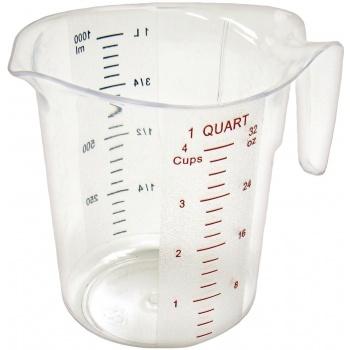 Winco Polycarbonate Measuring Cup - 1 Qt.