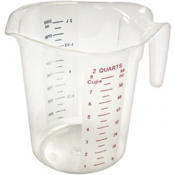 Winco Polycarbonate Measuring Cup - 2Qt.