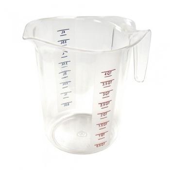 Winco Polycarbonate Measuring Cup - 4Qt.