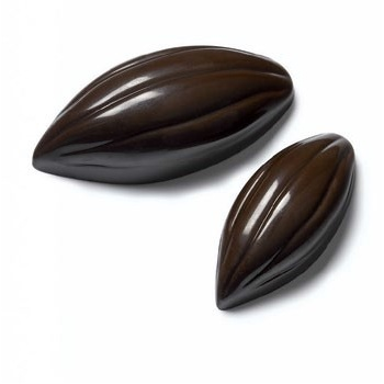Polycarbonate Chocolate Mold Cocoa Pod - 11g - 24 Cavity