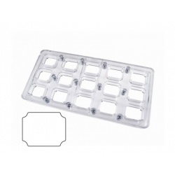 Polycarbonate Chocolate Magnetique Molds - Rectangle 35x30 mm. 15 gr - MM12