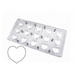 Polycarbonate Chocolate Magnetique Molds -Heart ø 30 mm. 10 gr- MM14